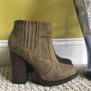 Zara Suede Heeled Booties